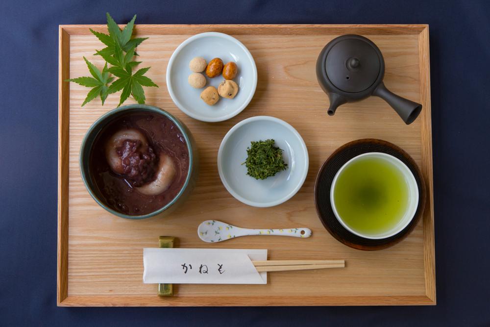 【季節限定】ぜんざいと 有機栽培煎茶「まろみ煎茶」